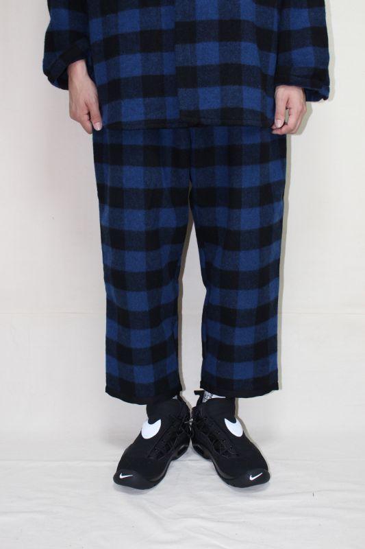 画像1: thinq/RELAX EASY WOOL CHECK PANTS (1)