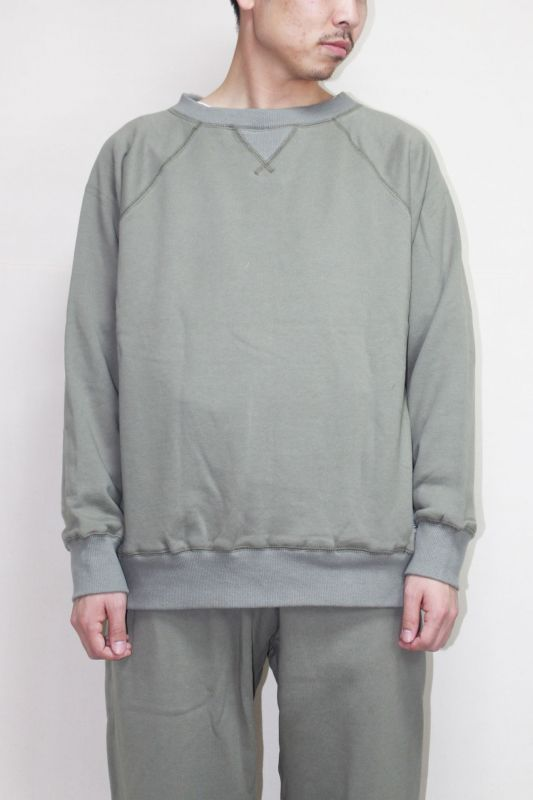 "画像1: NOWHAW/""military wok""sweat shirt OLIVE (1)"