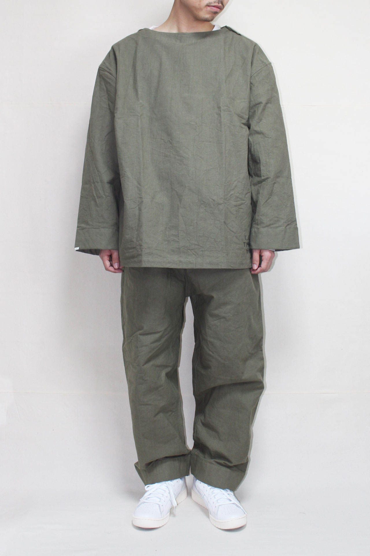"画像1: NOWHAW/""military wok""pajama #military ox OLIVE (1)"