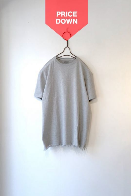 画像1: 【SALE】ETHOS/FRINGE TEE TOP GRAY (1)