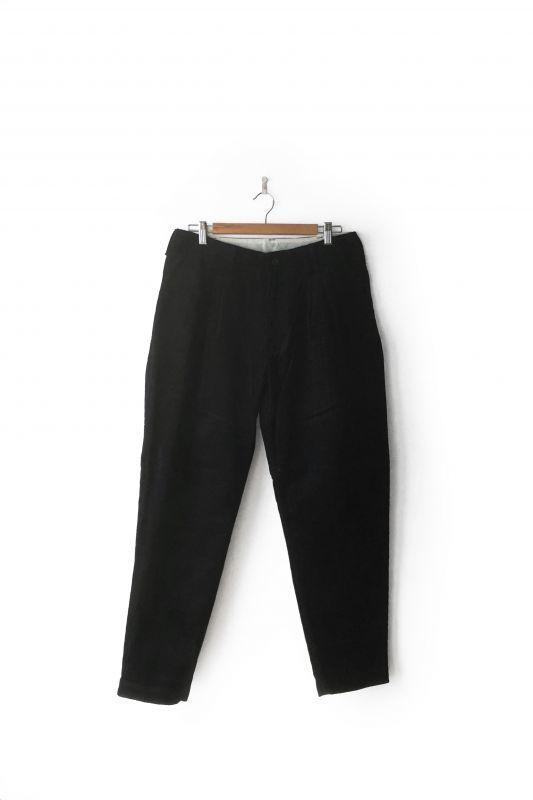 画像1: HUMIS/CLASSICAL 3-TUCK PANTS BLACK (1)
