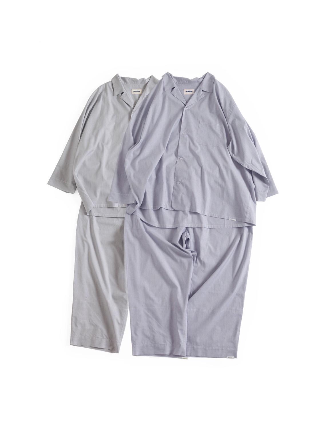 """画像1: NOWHAW/""""jambo"""" pajama #blue micro stripe/#black micro stripe (1)"""