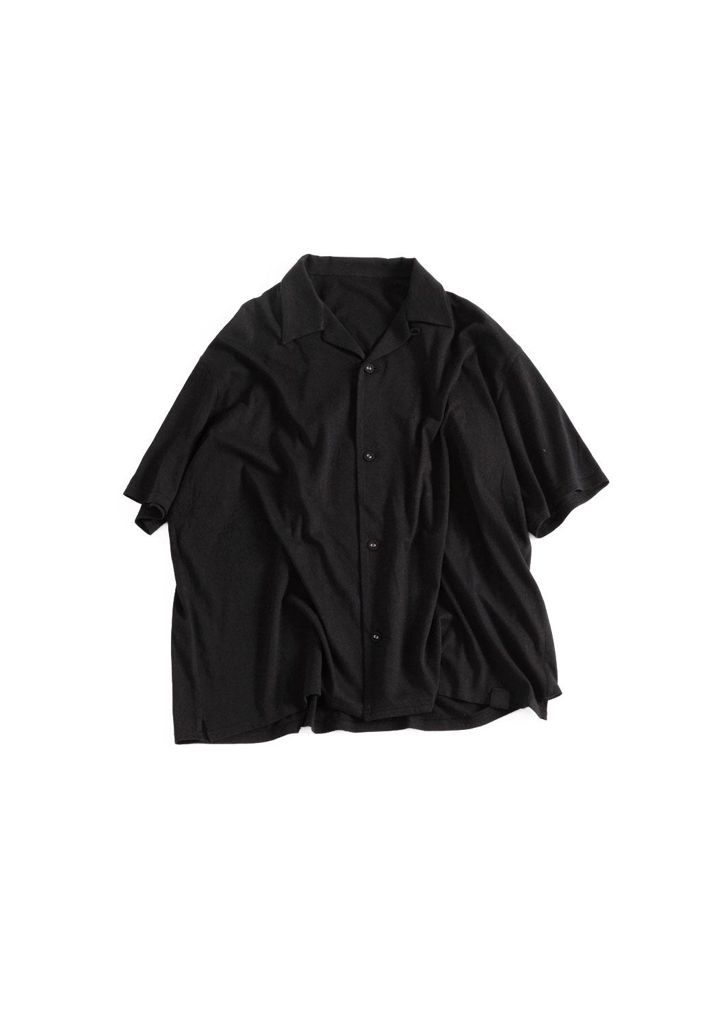 """画像1: NOWHAW/Twilight """"open collar"""" S/S shirt #black (1)"""