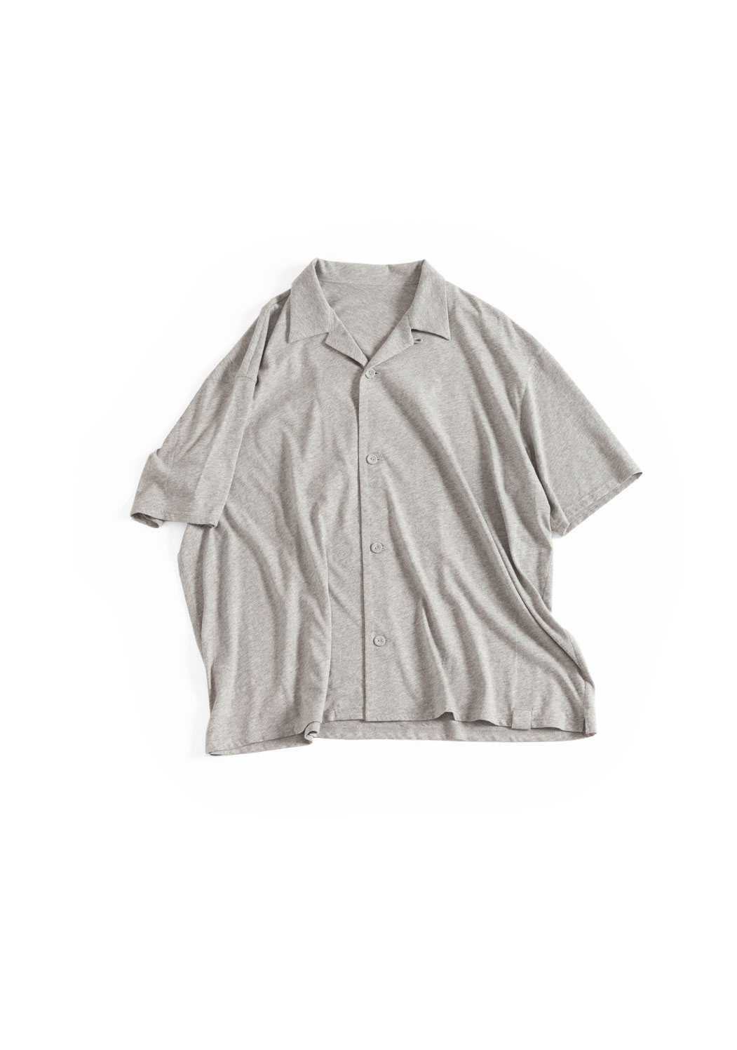 "画像1: NOWHAW/Twilight ""open collar"" S/S shirt #light gray (1)"