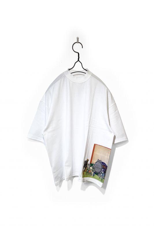 画像1: elephantTRIBALfabrics/INSIDE OUT FAT T × 岡本奇太郎 WHITE (1)