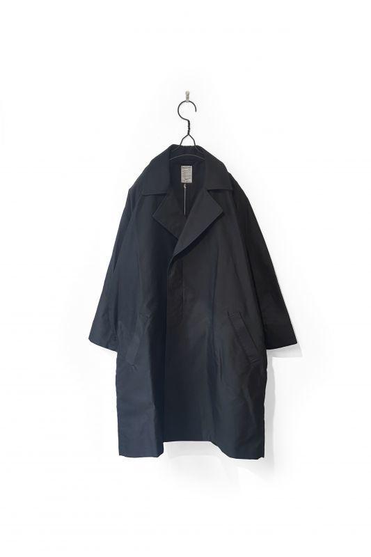 画像1: FACCIES/MOLESKIN TRENCH COAT BLACK (1)