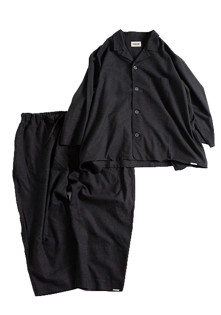 """画像1: NOWHAW/""""jambo"""" pajama #charcoal (1)"""