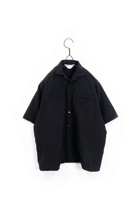 画像1: wonderland/OPEN COLLAR SHIRTS BLACK (1)